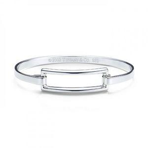 Open rectangle bangle